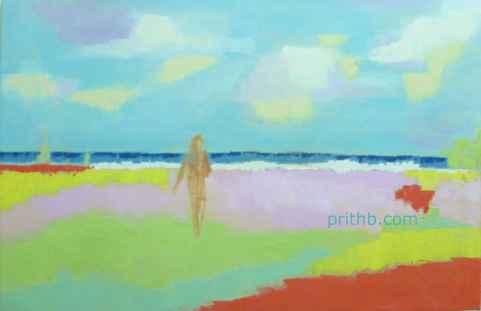 Beach 70cm x 45